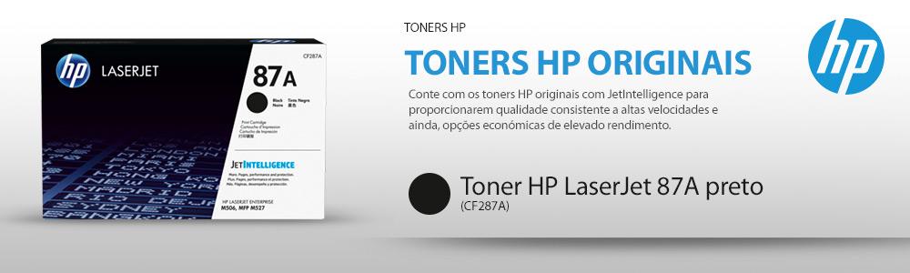Toner HP LaserJet original 87A preto